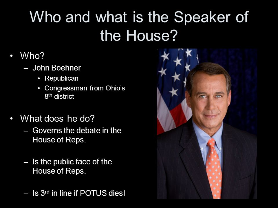 Who and what is the Speaker of the House