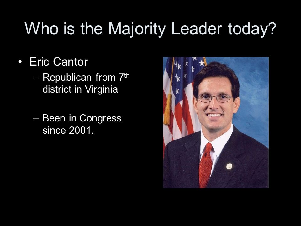 Who is the Majority Leader today