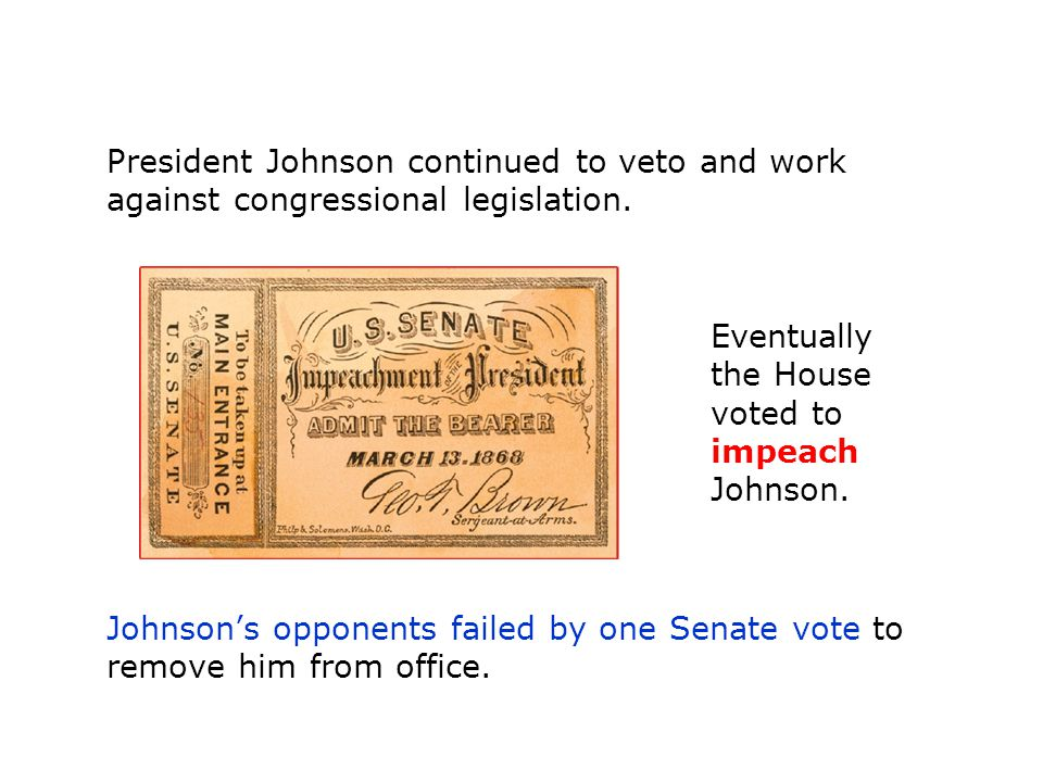 President Johnson continued to veto and work against congressional legislation.