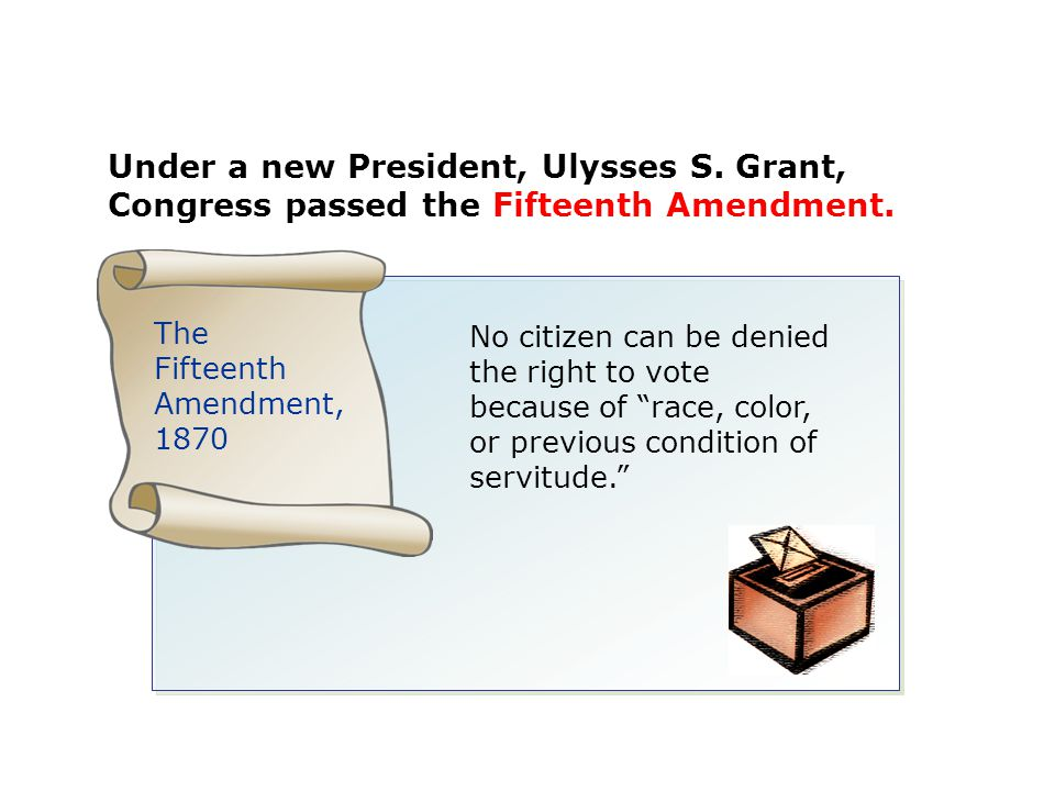 Under a new President, Ulysses S
