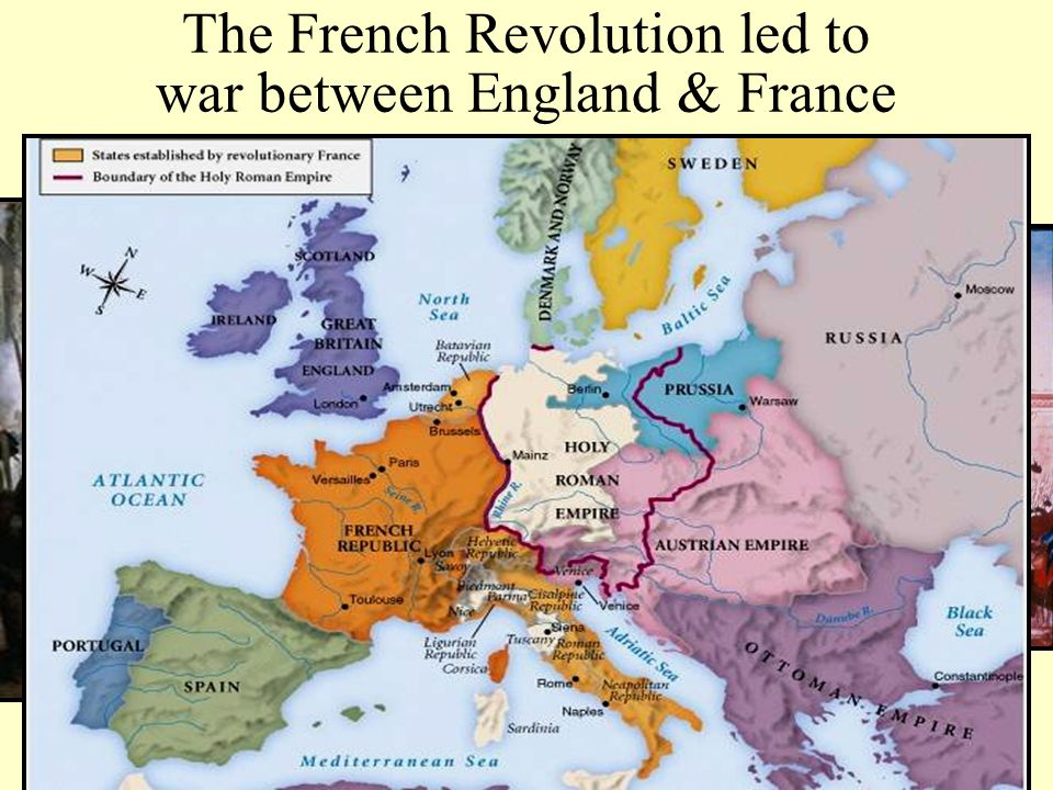 The French Revolution led to war between England & France