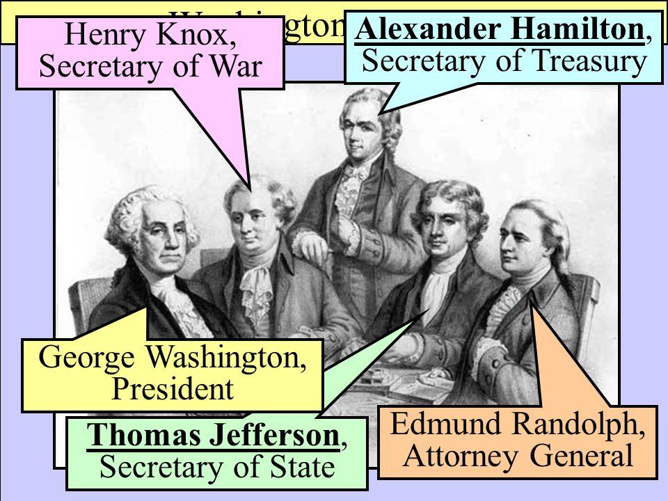 Washington's Cabinet Alexander Hamilton, Secretary of Treasury