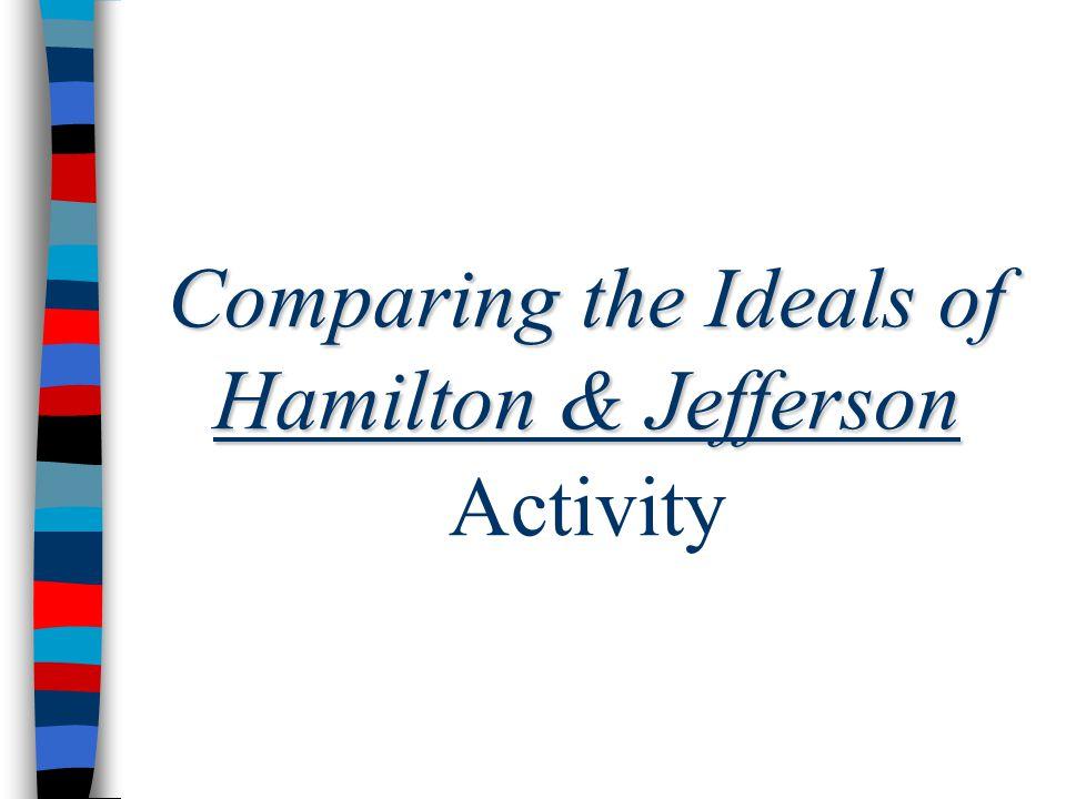 Comparing the Ideals of Hamilton & Jefferson Activity