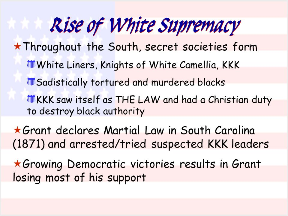 Rise of White Supremacy