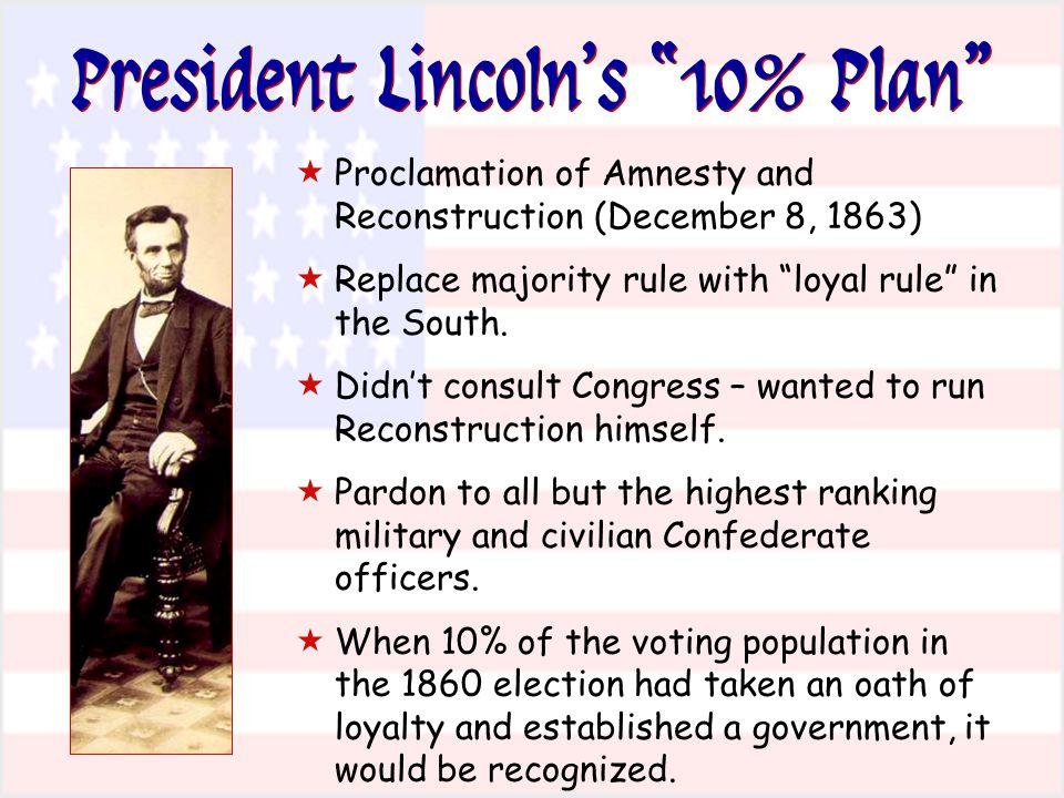 President Lincoln's 10% Plan