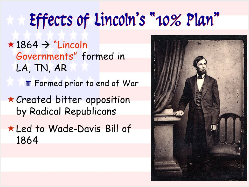 Effects of Lincoln's 10% Plan