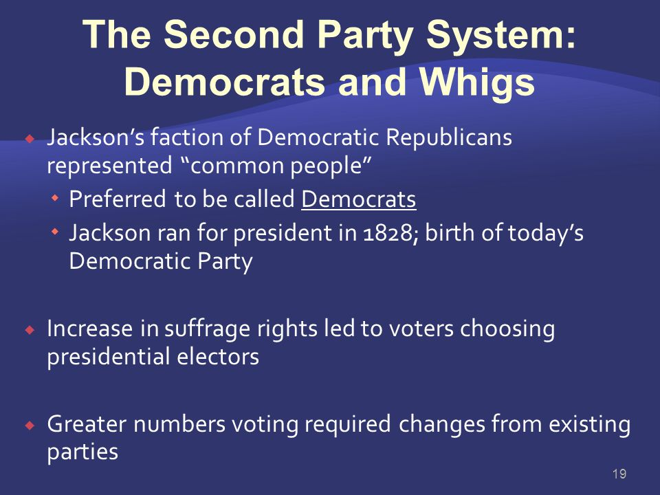 The Second Party System: Democrats and Whigs