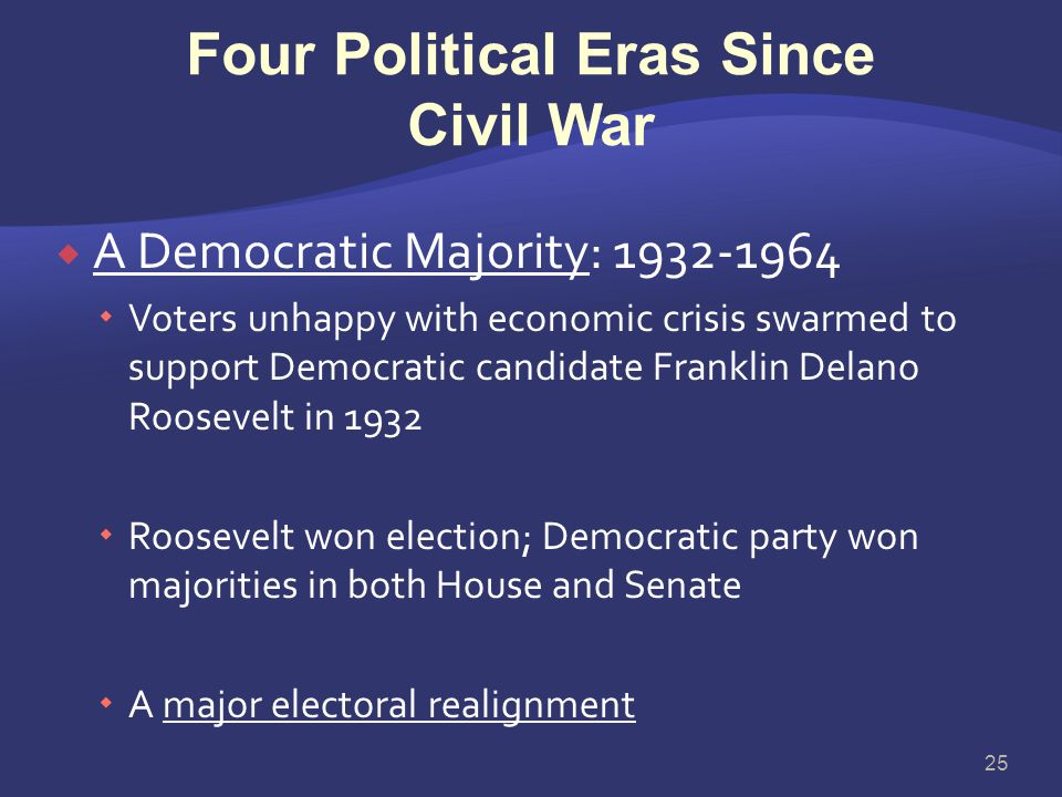 Four Political Eras Since Civil War