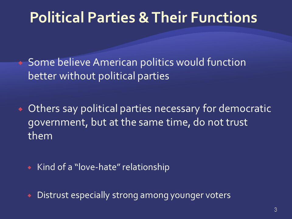 Political Parties & Their Functions