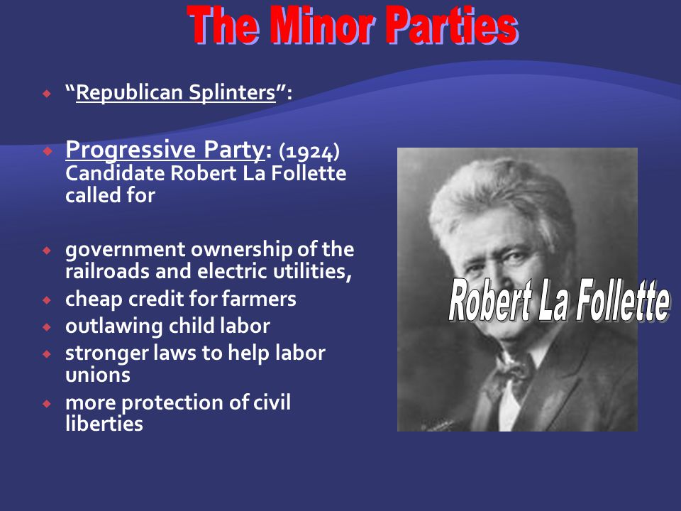 The Minor Parties Robert La Follette
