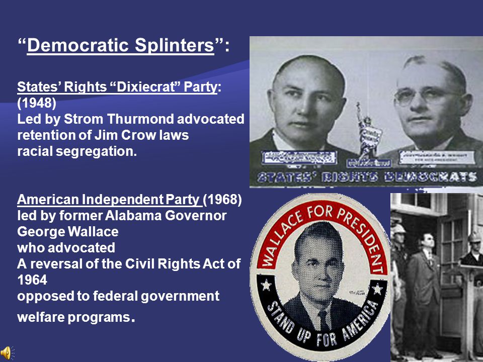 Democratic Splinters :