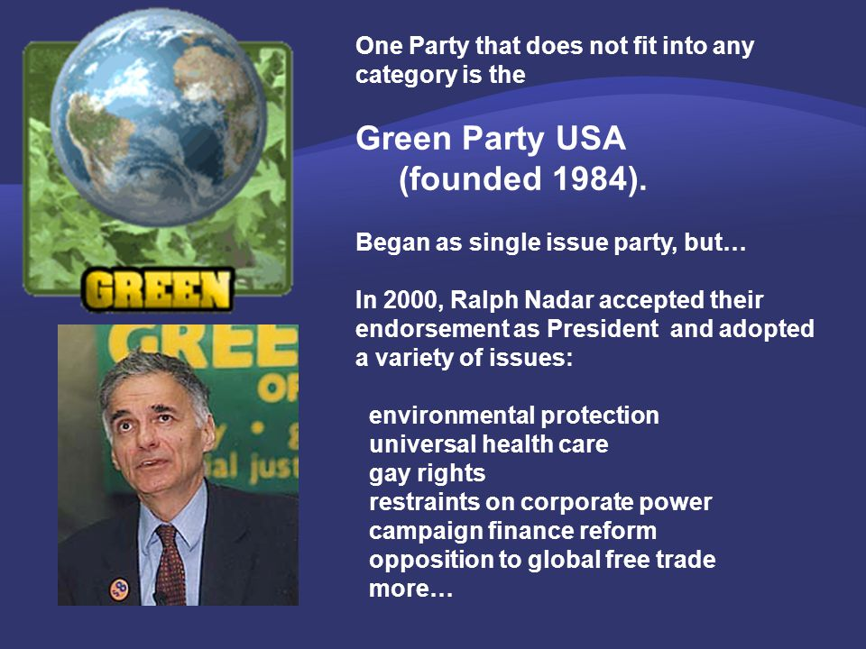 Green Party USA (founded 1984).