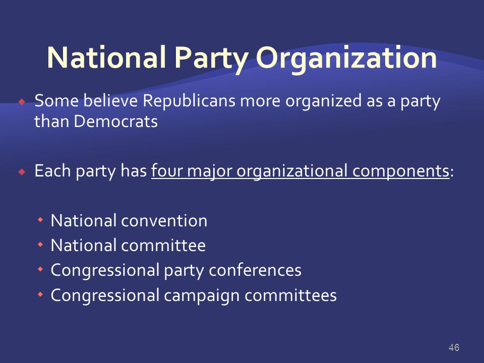 National Party Organization