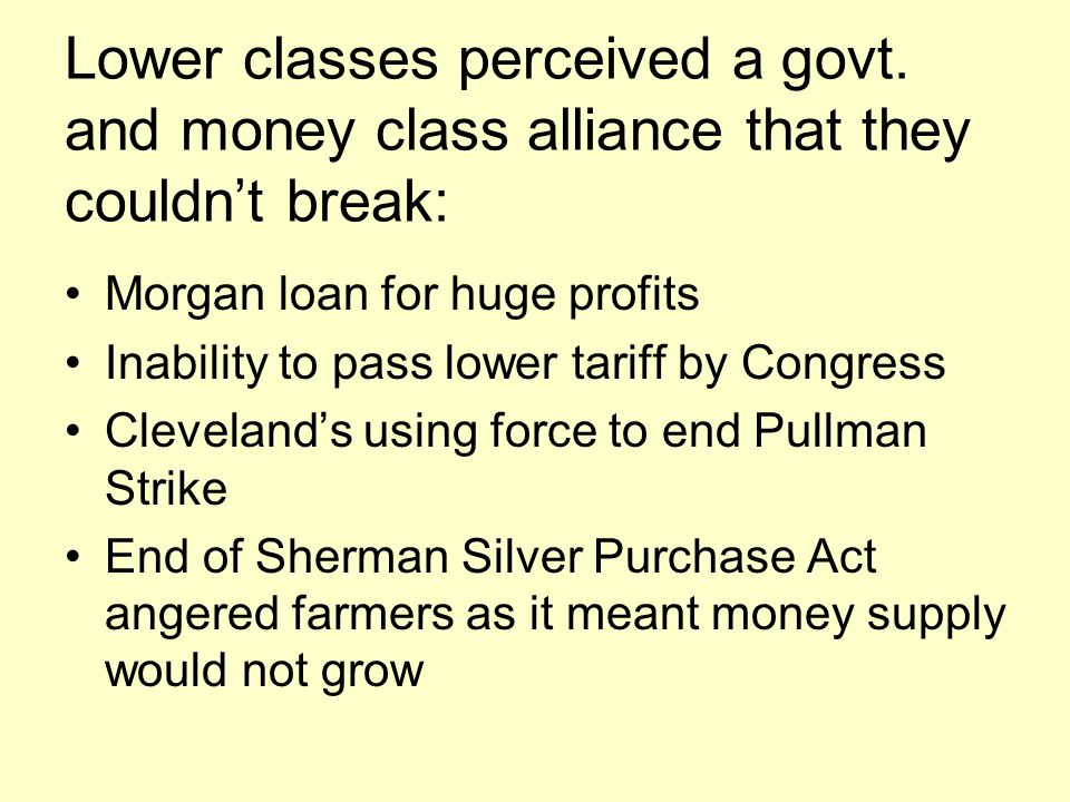 Lower classes perceived a govt