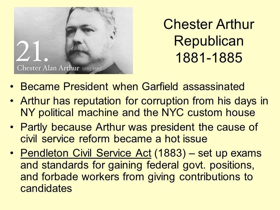 Chester Arthur Republican 1881-1885
