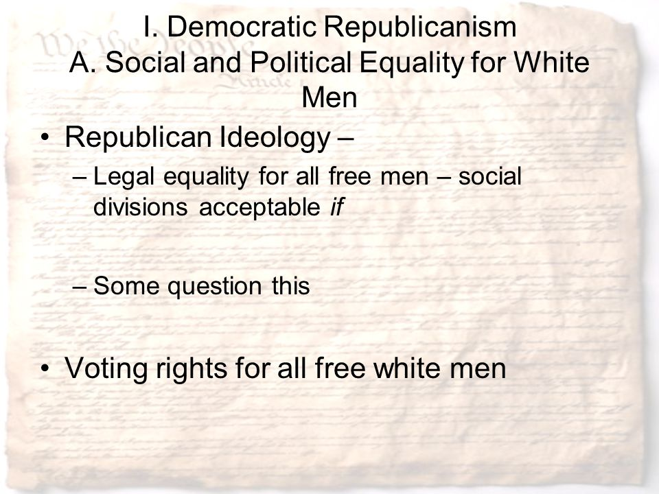 Voting rights for all free white men