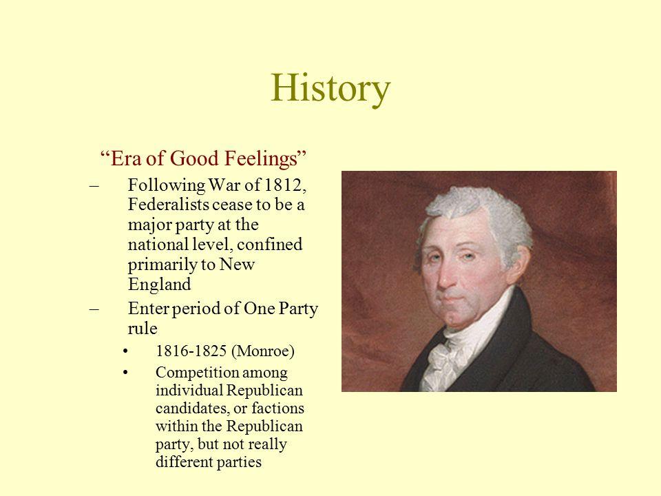 History Era of Good Feelings