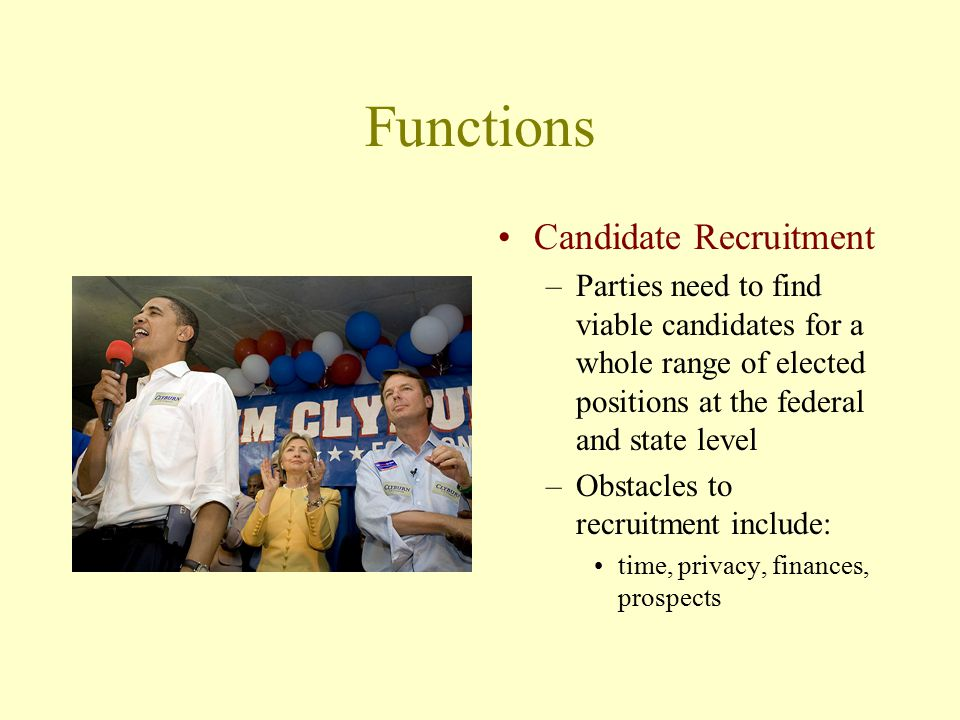 Functions Candidate Recruitment