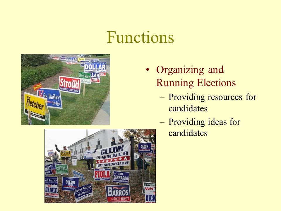 Functions Organizing and Running Elections