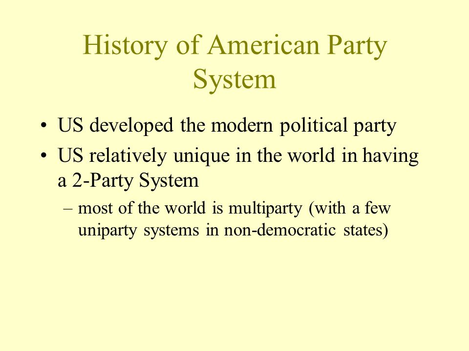 History of American Party System