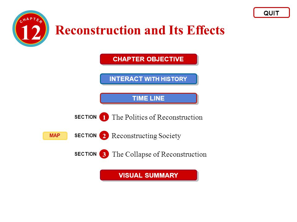 12 Reconstruction and Its Effects The Politics of Reconstruction ...