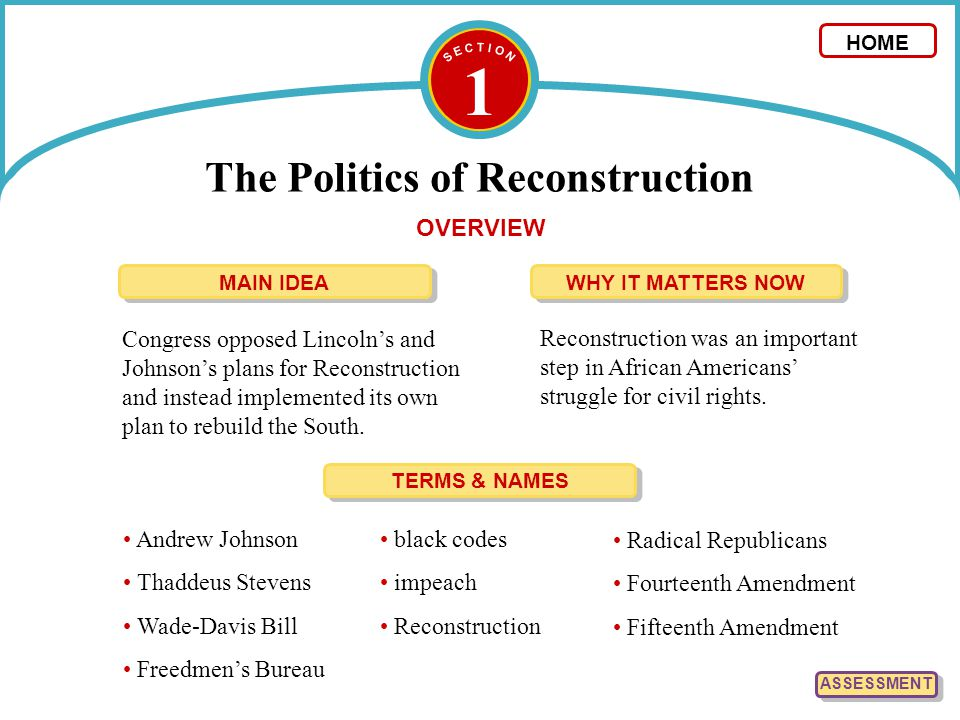 The Politics of Reconstruction