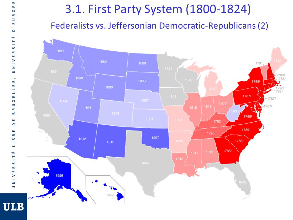3. 1. First Party System (1800-1824) Federalists vs