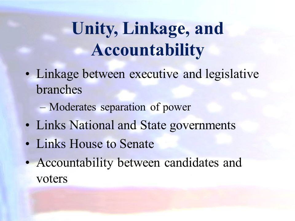 Unity, Linkage, and Accountability