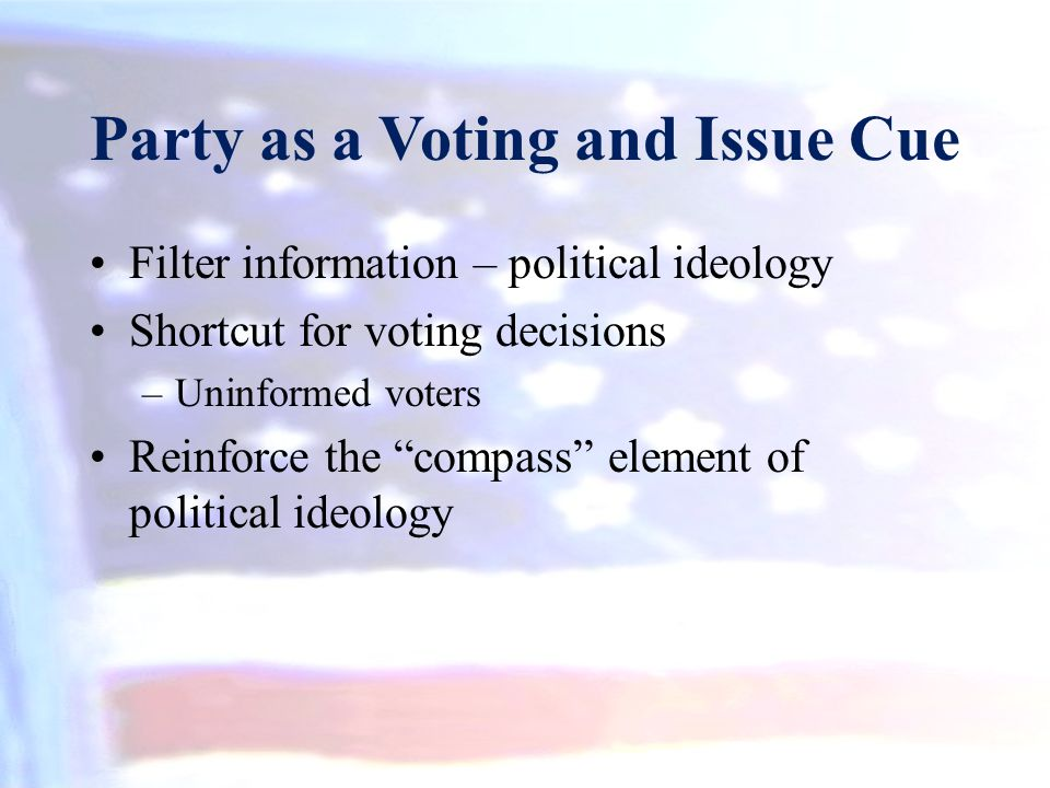 Party as a Voting and Issue Cue