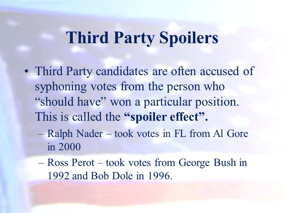 Third Party Spoilers