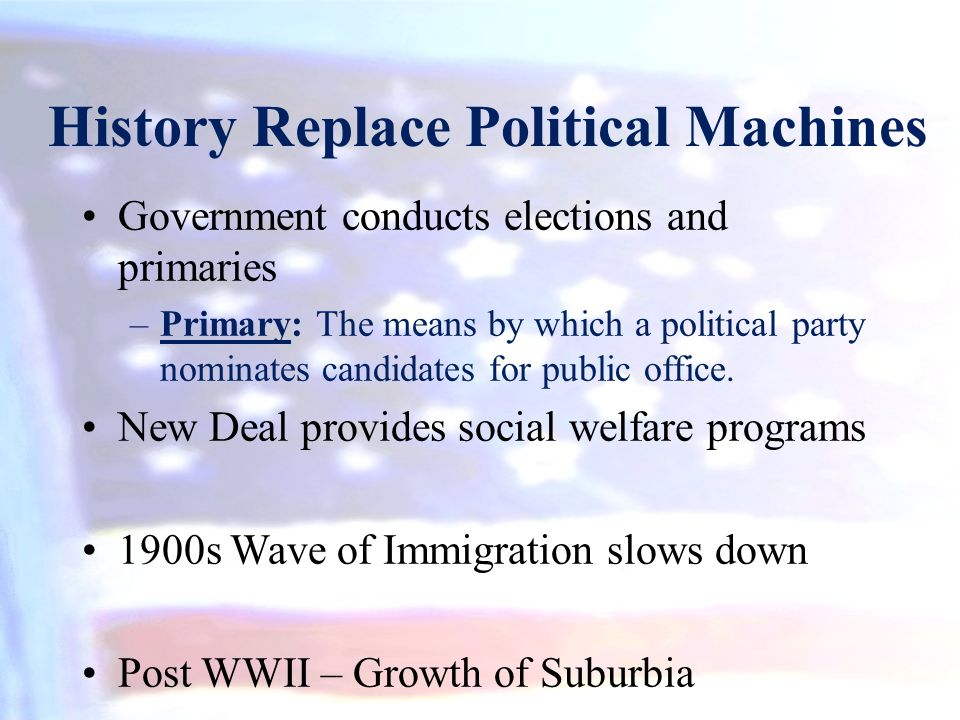 History Replace Political Machines