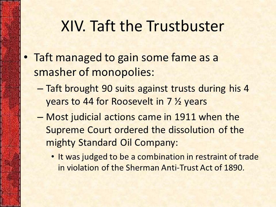 XIV. Taft the Trustbuster