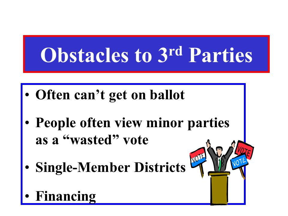 Obstacles to 3rd Parties