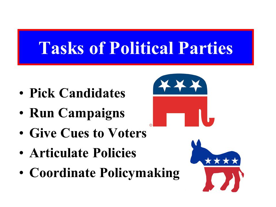 Tasks of Political Parties
