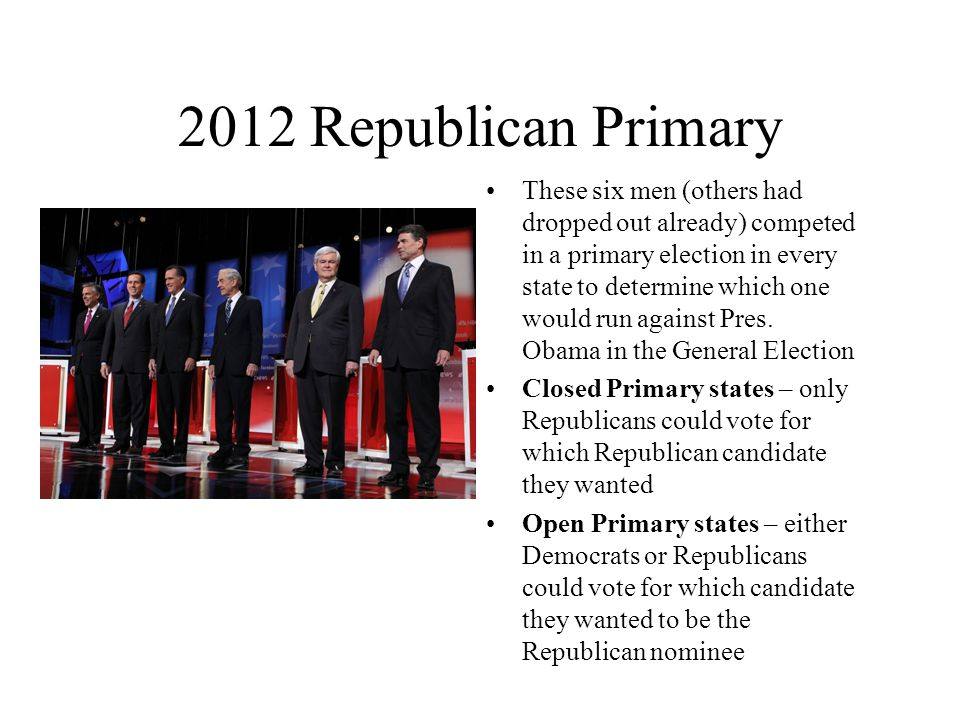 2012 Republican Primary