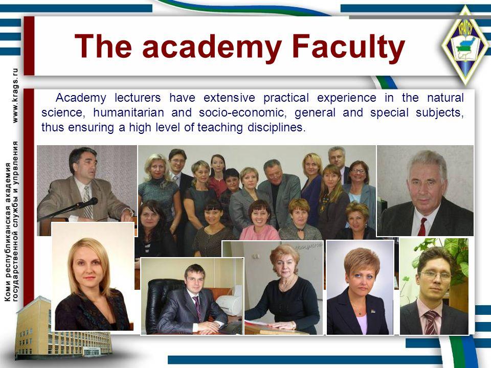 The academy Faculty