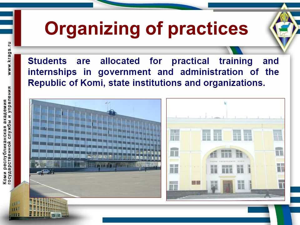 Organizing of practices
