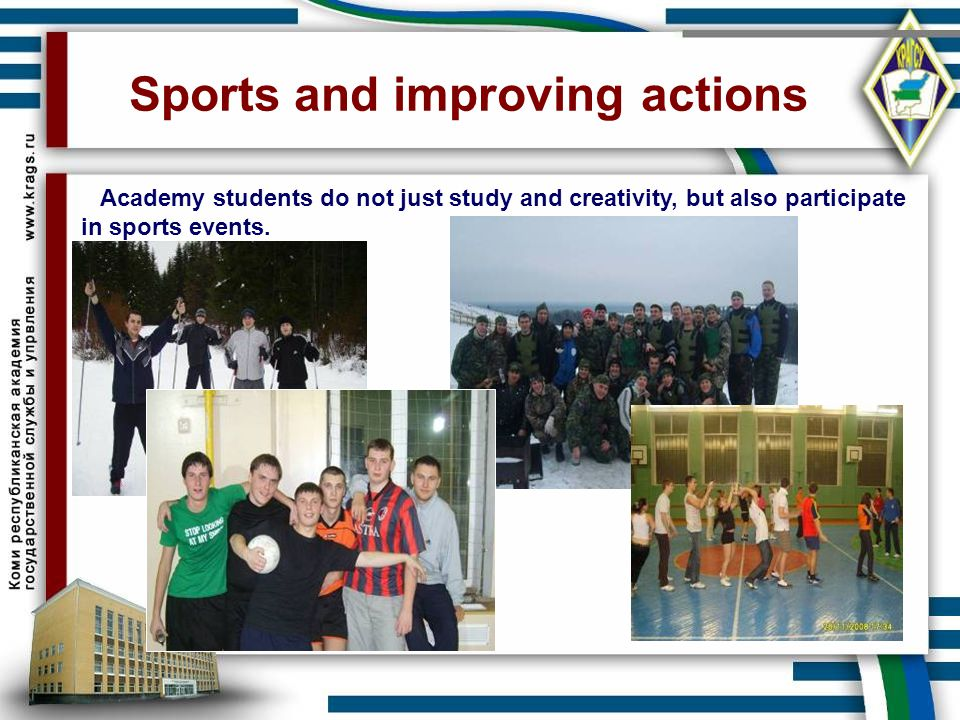 Sports and improving actions