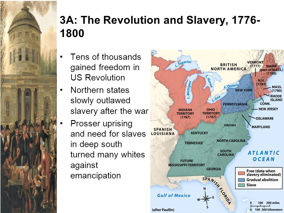 3A: The Revolution and Slavery, 1776-1800