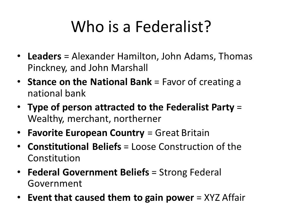 the jeffersonian republicans and federalists Essary in order to displace the jeffersonian republicans from power and restore  federalist control over the national government some historians, such as paul.