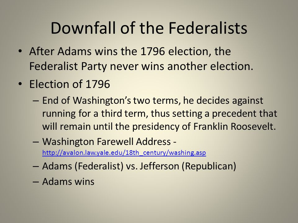 Downfall of the Federalists