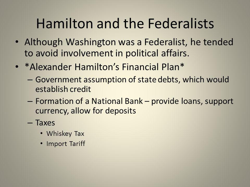 alexander hamilton financial plan