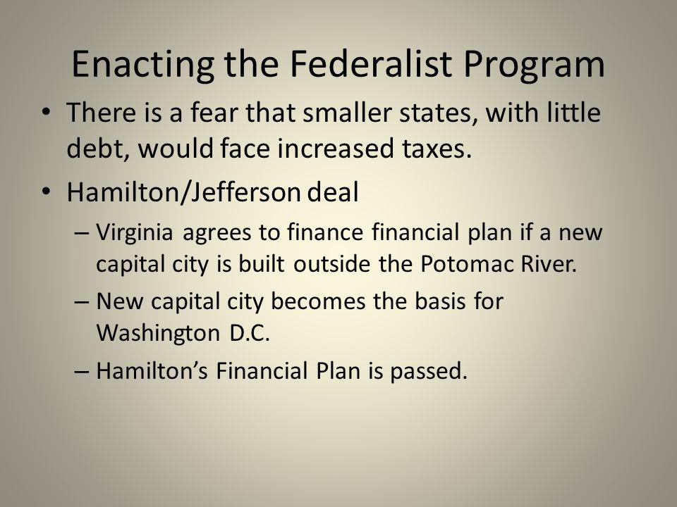 Enacting the Federalist Program