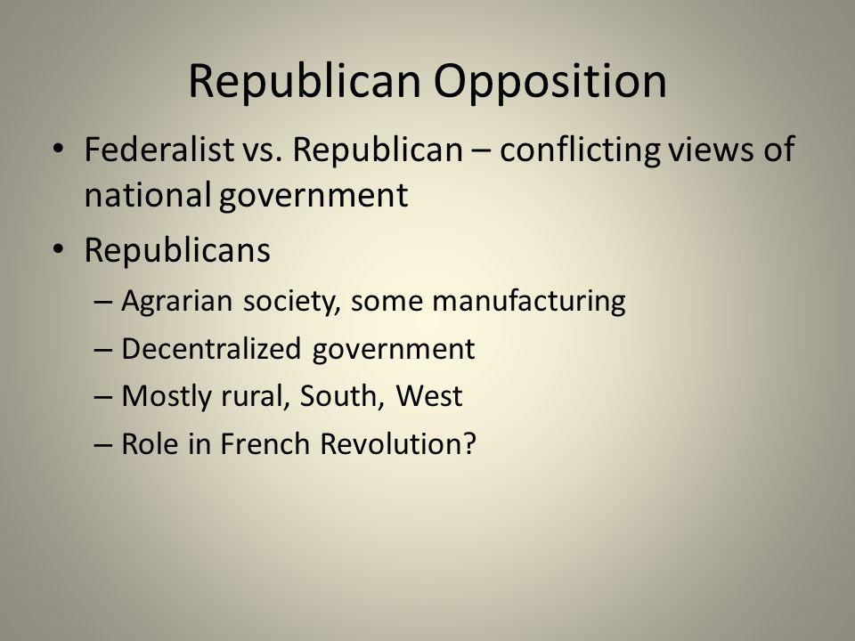 Republican Opposition