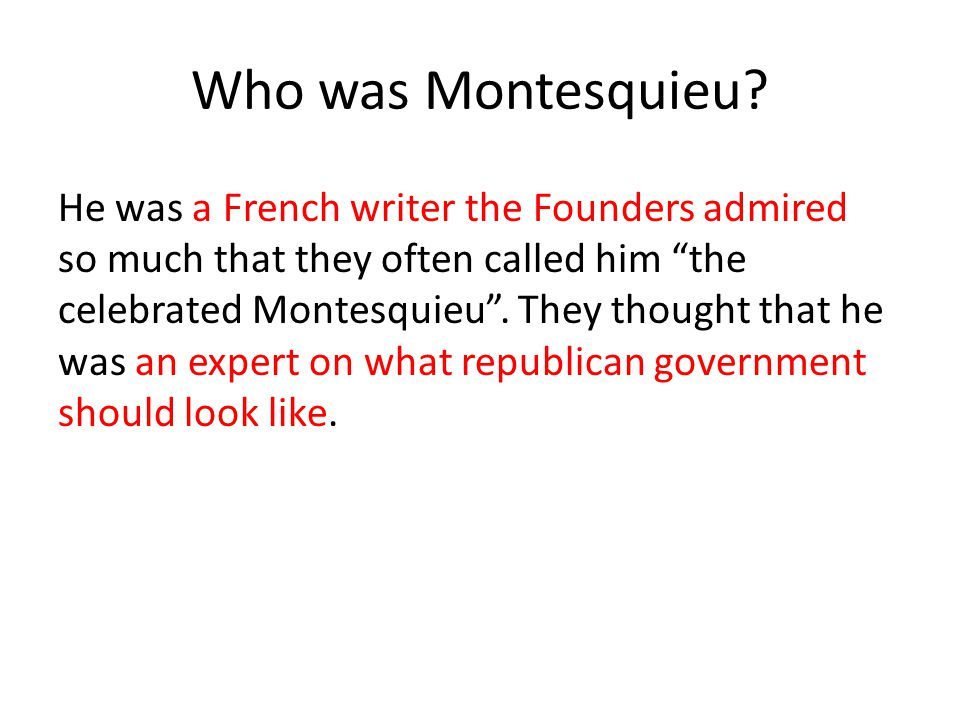Who was Montesquieu