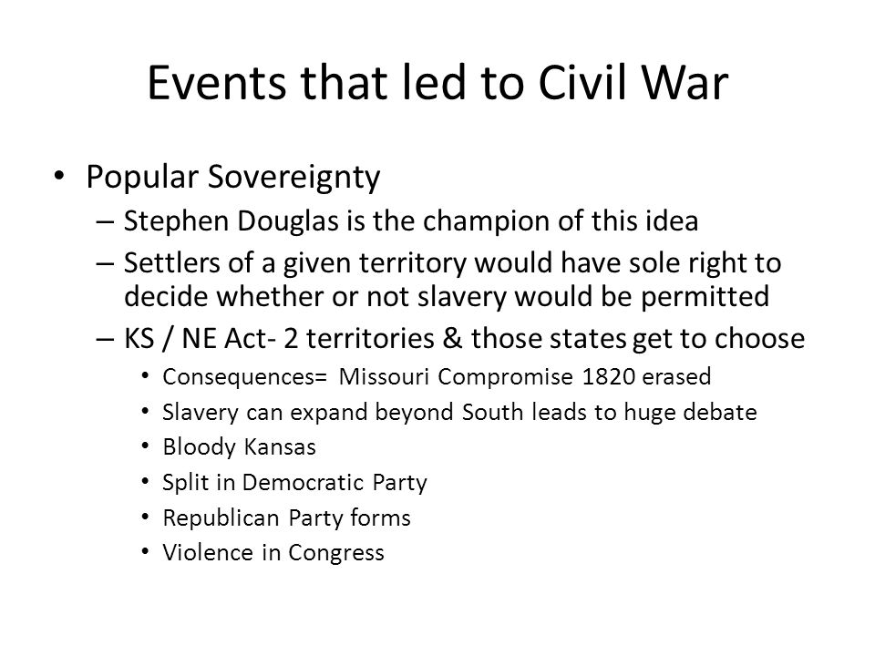 Events that led to Civil War