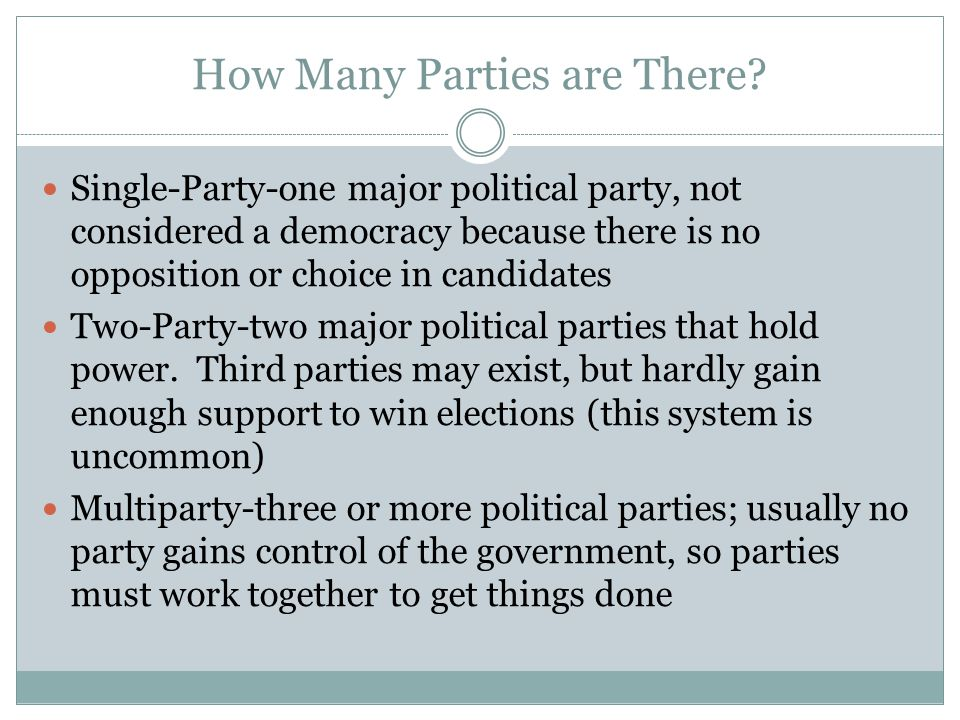 How Many Parties are There