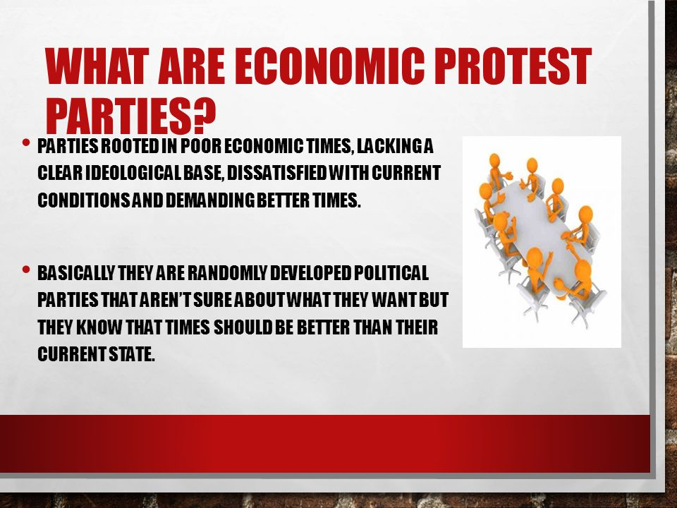 What are economic protest parties