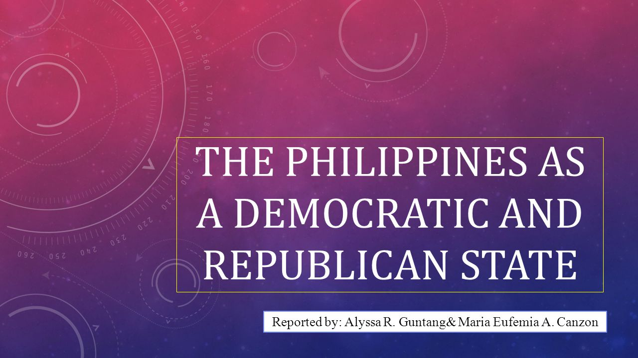 The Philippines as a Democratic and Republican State