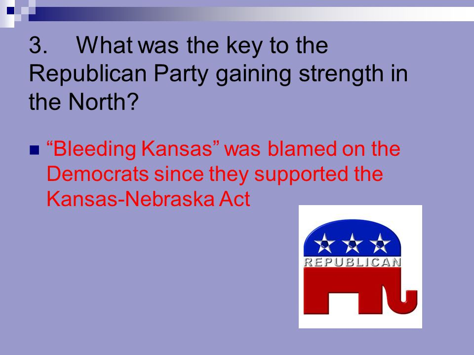 3. What was the key to the Republican Party gaining strength in the North